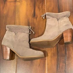 Crown Vintage Ankle Boots Bootie Heels Shoes